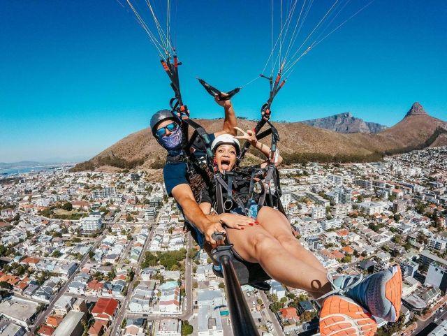 actress Thando Thabethe goes skydiving – Photos