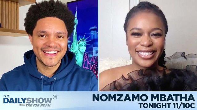 Trevor Noah to host Nomzamo Mbatha on the The Daily Show