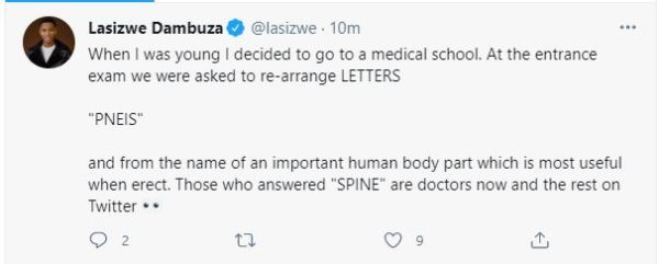 Lasizwe reveals shocking reason for failing to get into medical school