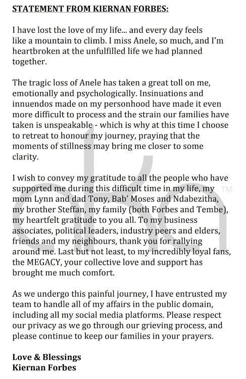 Nelli Tembe's death: AKA breaks