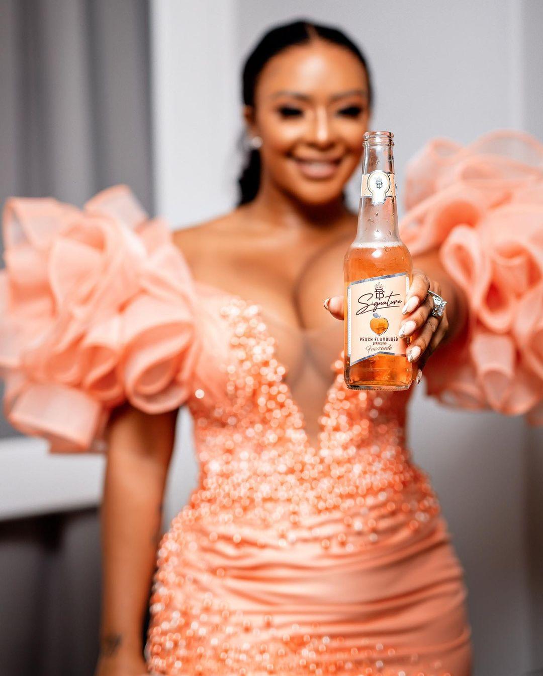 Mzansi reacts to shocking price of Boity's alcoholic drink