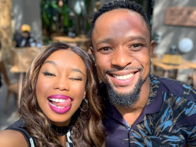 Mzansi left confused as SK Khoza is spotted spending quality time with Candice Modiselle – Photos