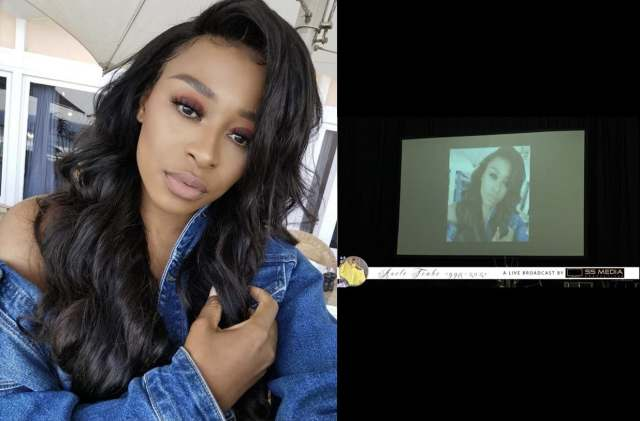 DJ Zinhle's photo appears in Nelli Tembe's funeral tribute video – Watch