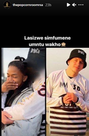 Photo: Lasizwe's new Boyfriend's face revealed