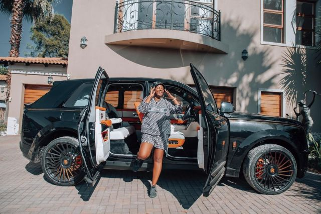 MaMkhize Flaunts R16 Million Rolls Royce Cullinan Black Badge Birthday Gift – PICS