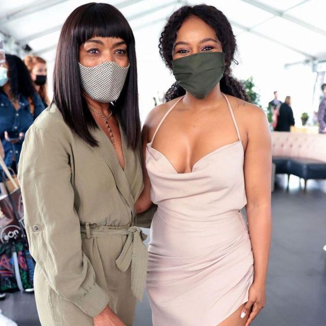 Nomzamo Mbatha Rubs Shoulders With The Queen Of Wakanda: Pictures