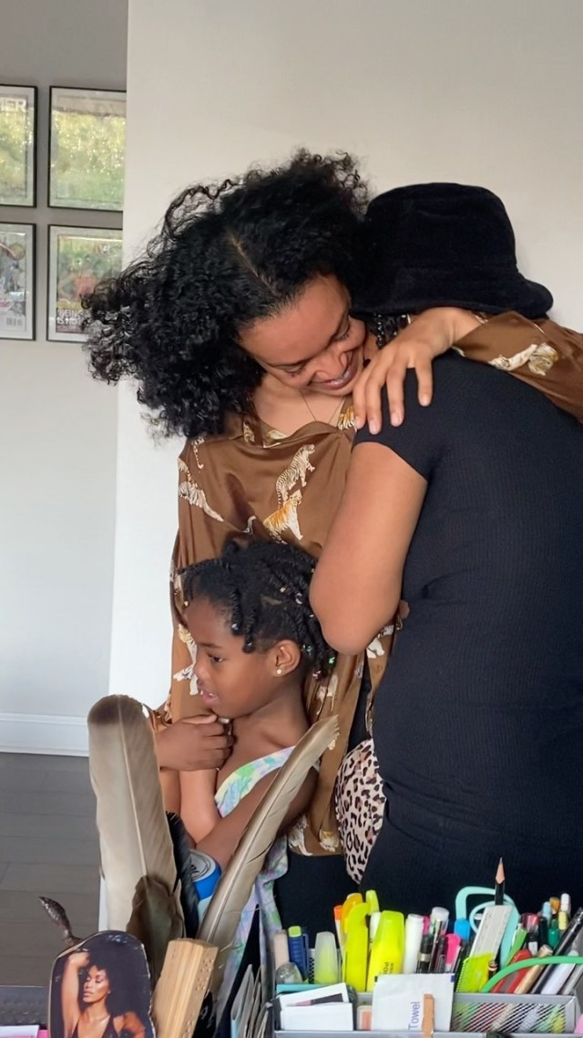 Watch: Heart melting moment Pearl Thusi surprised her baby girls