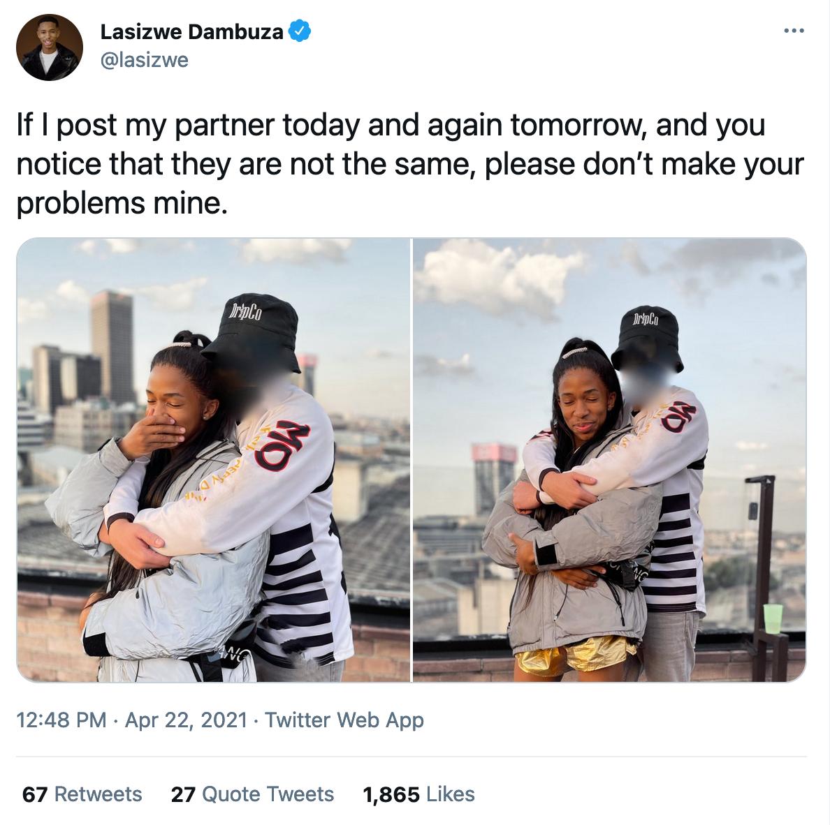 Lasizwe Suggests He Has Multiple Boyfriends