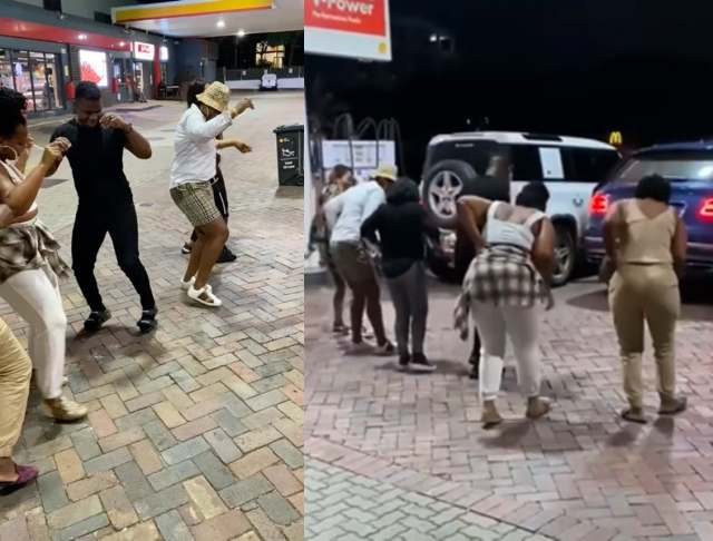 Watch: Shauwn Mkhize and her family serve dance moves at a petrol station