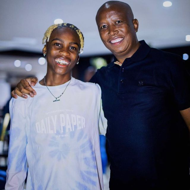 Julius Malema gives Uncle Vinny sound advice as the young artist celebrates his birthday