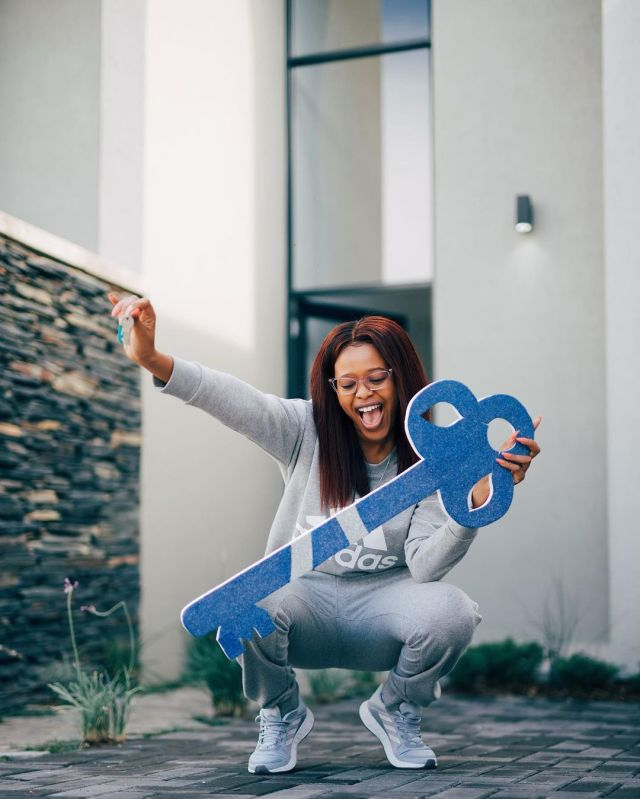 Actress Natasha Thabane blesses herself with a new house