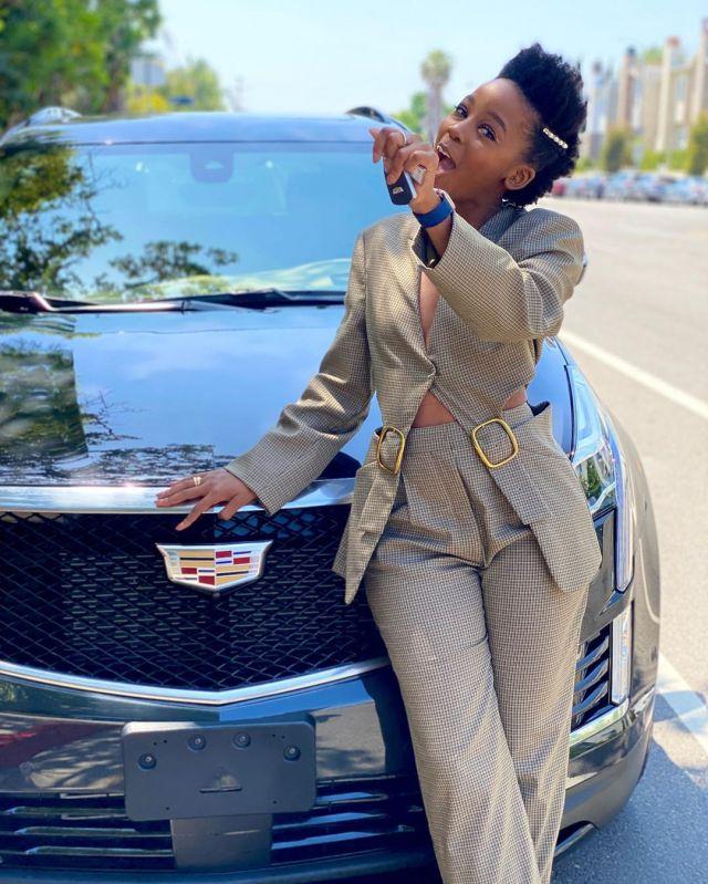 Actress Thuso Mbedu blesses herself with million dollar Cadillac Escalade – PHOTOS