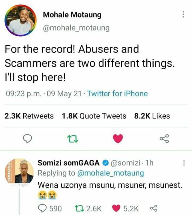 Inside Somizi and Mohale Twitter war that got Mzansi talking