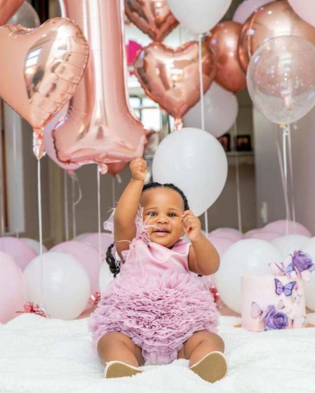 Luxurious Birthday party for Shauwn Mkhize (MaMkhize's) granddaughter as she turns 1 – Photos