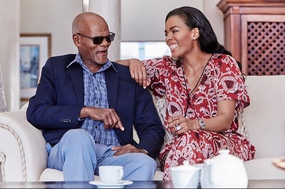 Connie Ferguson pens beautiful message as her dad turns 85