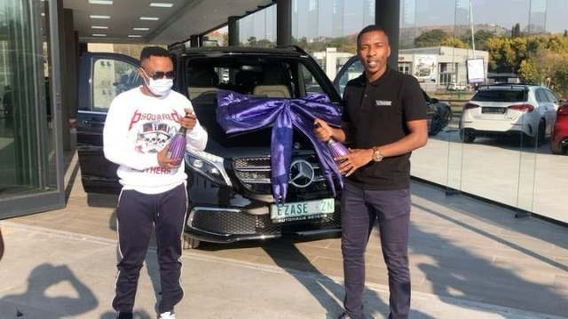 Watch: DJ Tira blesses himself with a new car