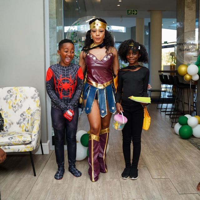 Watch: Kelly Khumalo's son 11th birthday party