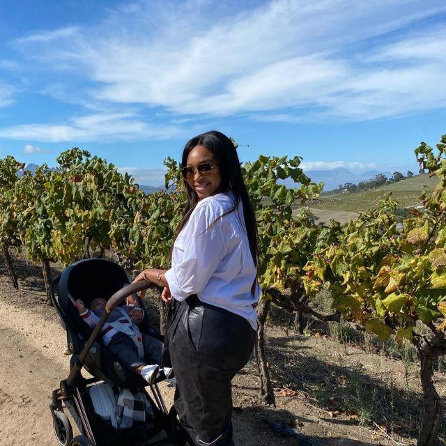 PHOTOS – Minnie Dlamini finally shows off baby Netha's face