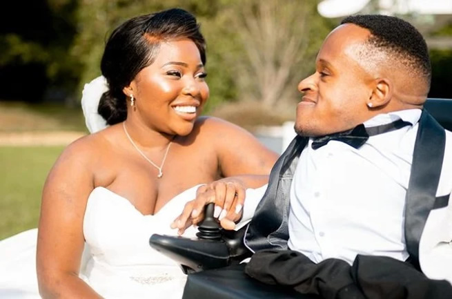 He broke over 150 bones and can't walk, She is able bodied – Newly weds share love story & sex life