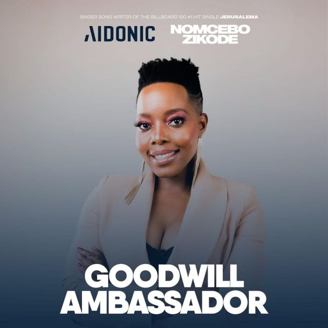 Songbird Nomcebo Appointed Goodwill Ambassador For Tech Giant AIDONIC