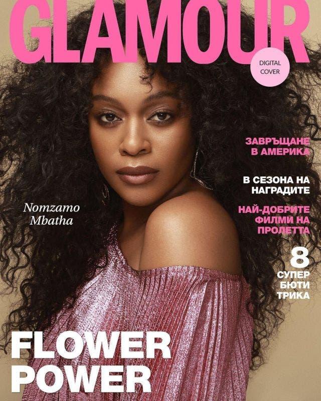 Nomzamo Mbatha graces the cover of Glamour magazine, Bulgaria