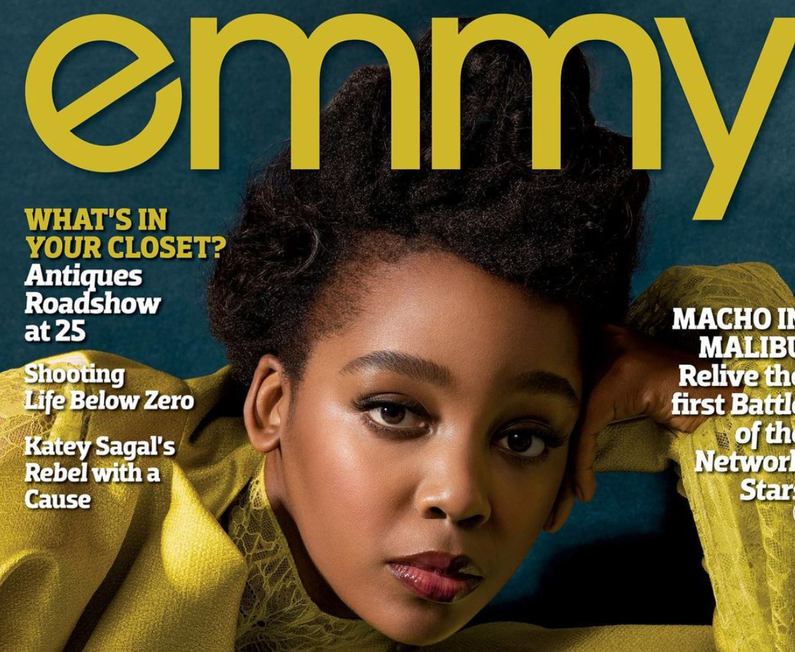 Thuso Mbedu Reacts As She Covers The Emmy Magazine