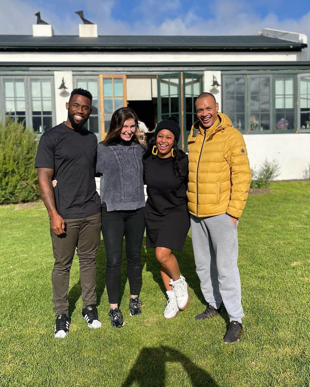 Couple goals: Siya and Rachel Kolisi's weekend getaway with Minnie Dlamini &hubby