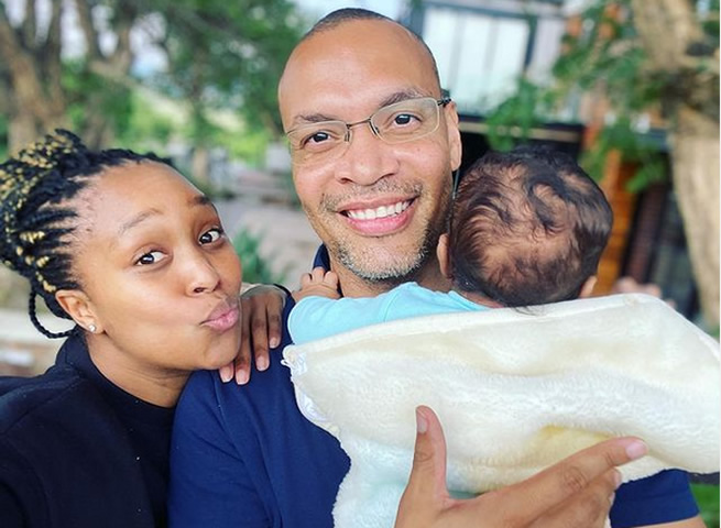 He's so cute – Minnie Dlamini-Jones shows her baby's face for the first time – (PHOTO)