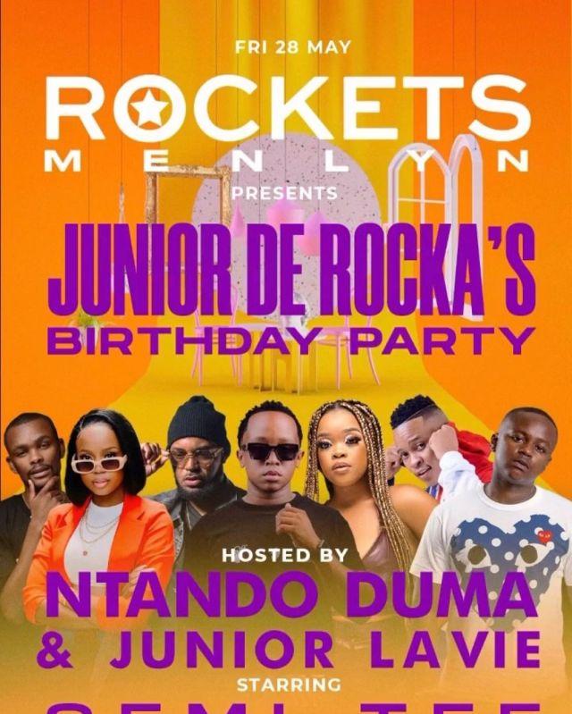 Mzansi reacts as Ntando Duma is set to host ex-boyfriend Junior De Rocka's birthday