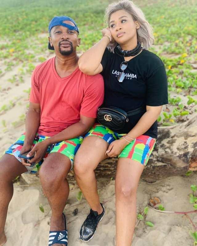Former Isibaya Actor Andile Mxakaza And Lady Du Get Matching Tattoos Photo