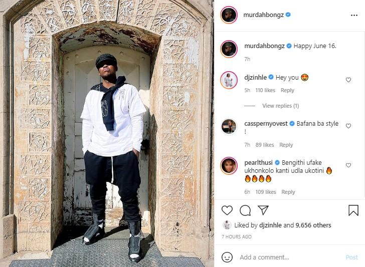 Pearl Thusi trolls DJ Zinhle's boyfriend in recent post