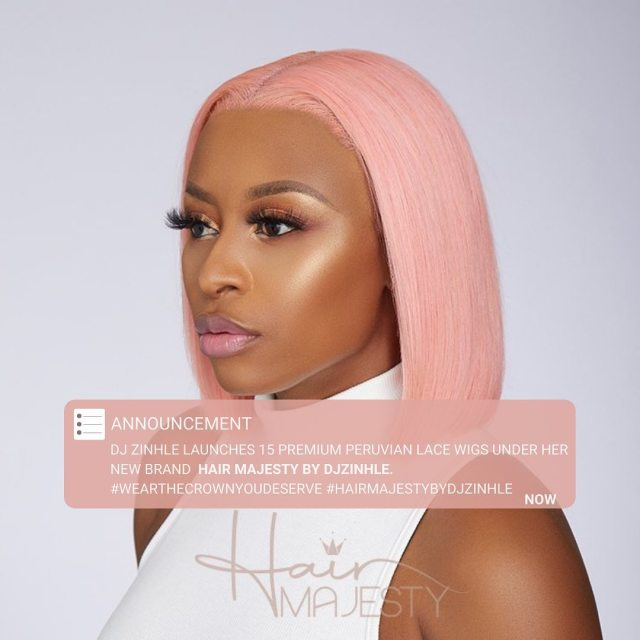 DJ Zinhle launches own wig brand