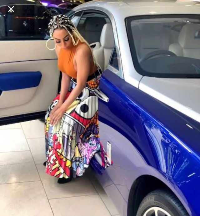 Khanyi Mbau adds a Rolls Royce to her car collection