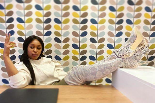 Photos: Minnie Dlamini flaunts new office space