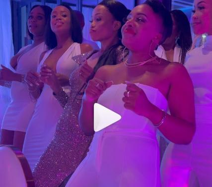 Watch: Actress Ntando Duma and friends flunk the Dakiwe dance Challenge