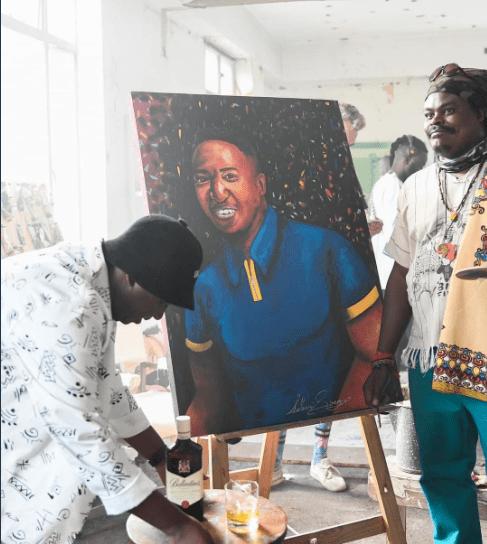 Photo: DJ Shimza's portrait by Rasta leaves Mzansi in stitches