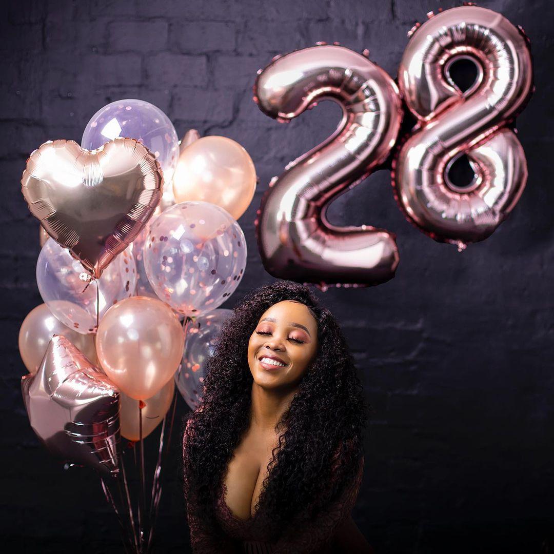Happy birthday to fitness bunny Sbahle Mpisane as she turns 28