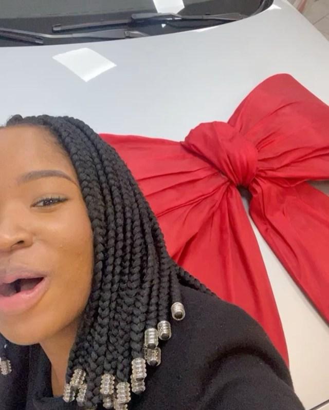 Watch: Uzalo actress Thuthuka Mthembu blesses herself with a brand new BMW car
