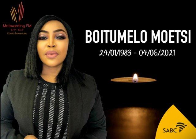 Condolences pour in for Motsweding FM presenter Tumi Moetsi: #RIPMamaneTumi