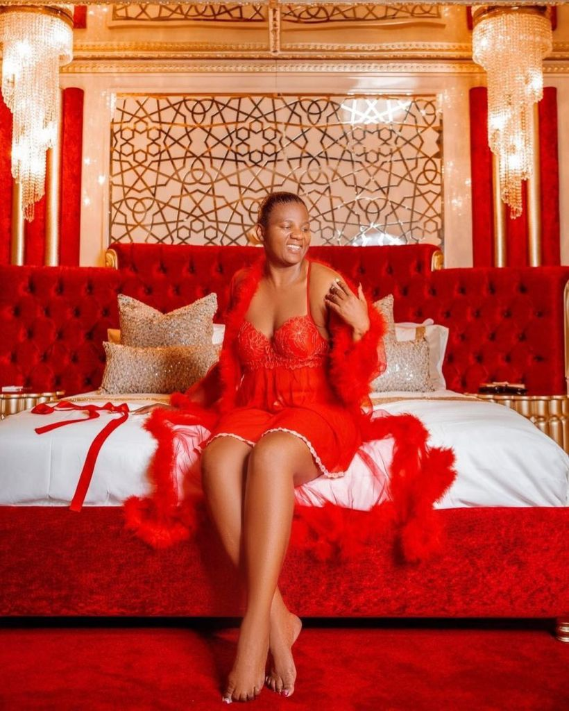 PICS: Mamkhize's exquisite collection of Lingerie Sunday sets social media ablaze