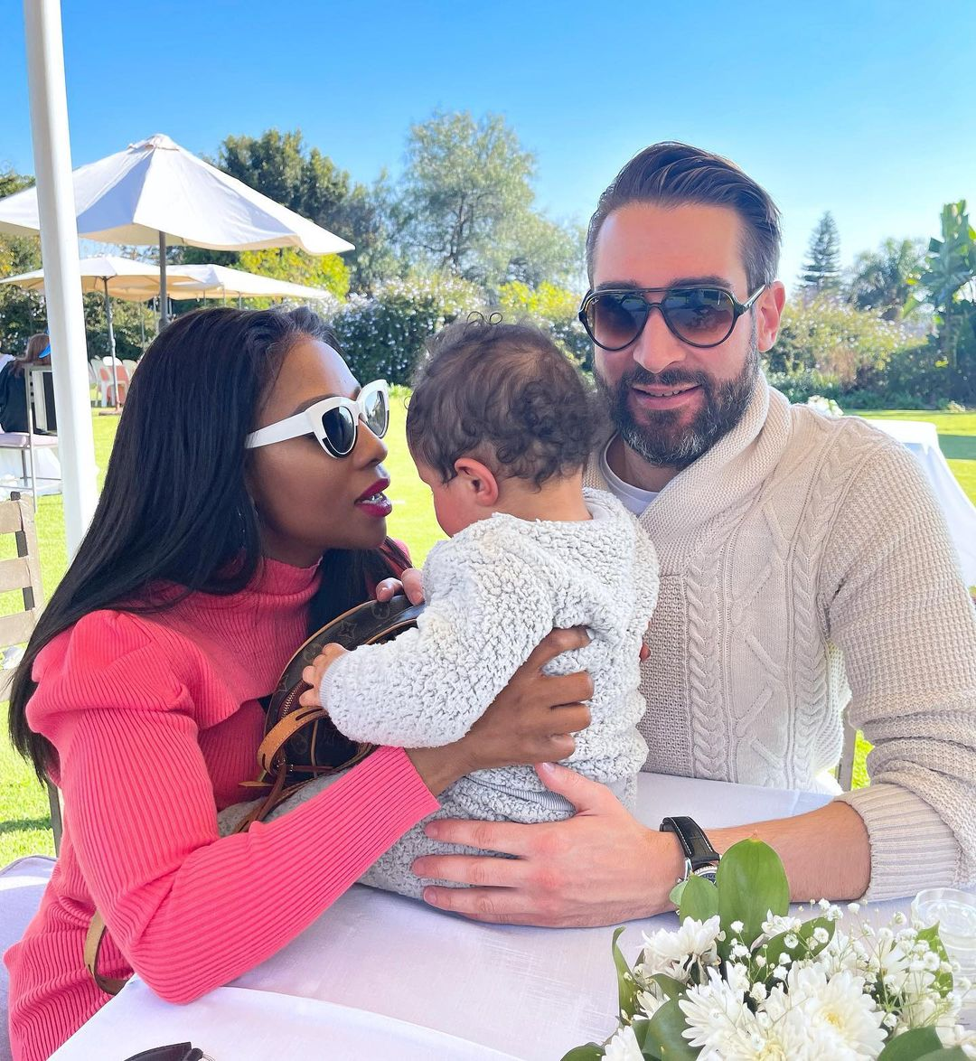 PICS: Pearl Modiadie hangs out with her baby daddy as he turns a year older