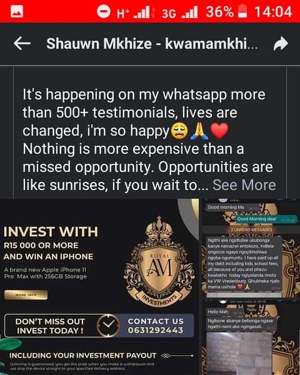 STAR MAMKHIZE WARNS MZANSI