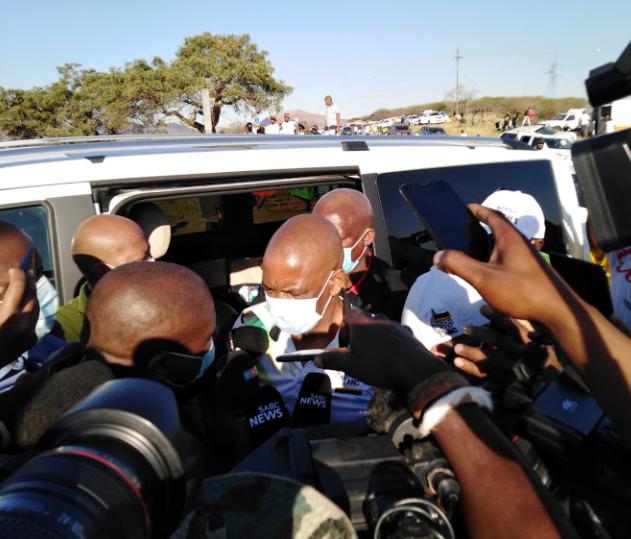 Watch: FORMER PRESIDENT JACOB ZUMA ARRIVES IN NKANDLA