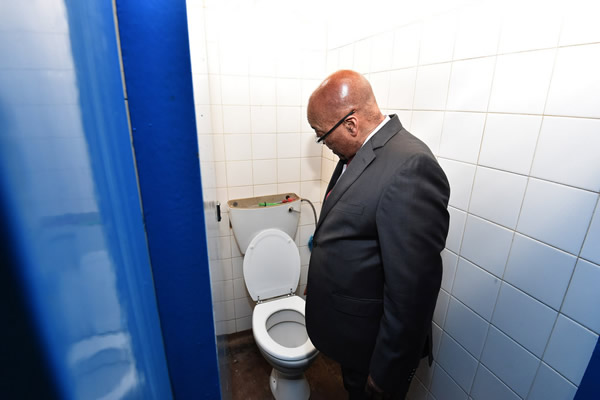 president Jacob Zuma in isolation at Estcourt Correctional Centre