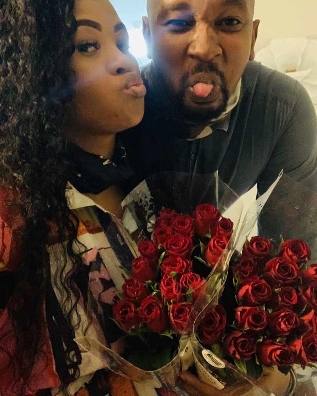 Pics: Lady DU and actor Andile Mxakaza celebrate engagement anniversary