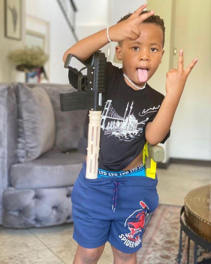 Anele Mdoda celebrates son's 6th birthday