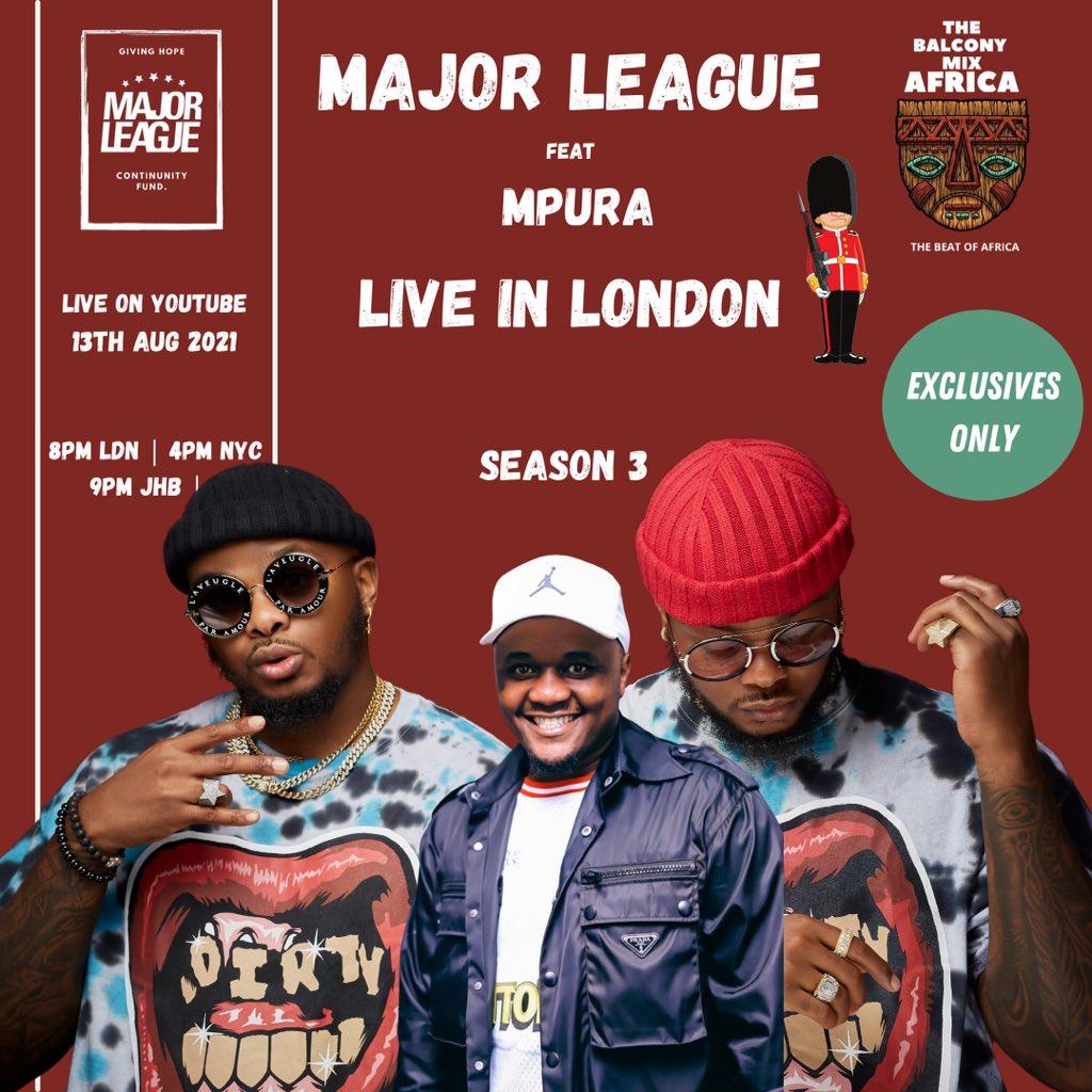Major League DJz to honour Mpura on this Friday's Balcony Mix