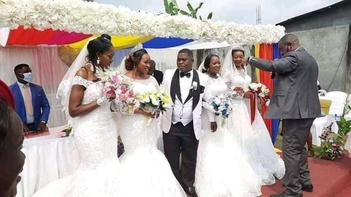 Photos: Man weds 4 woman at the same time