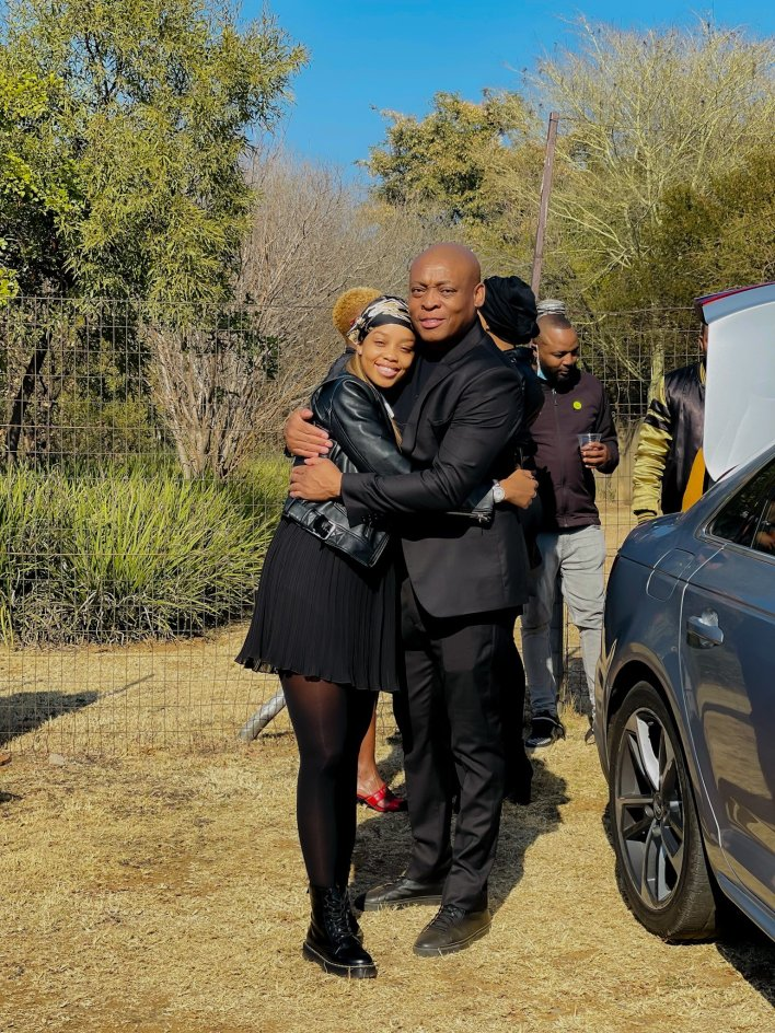 Photos: Ntando Duma slammed for her revealing attire at Shona Ferguson's funeral