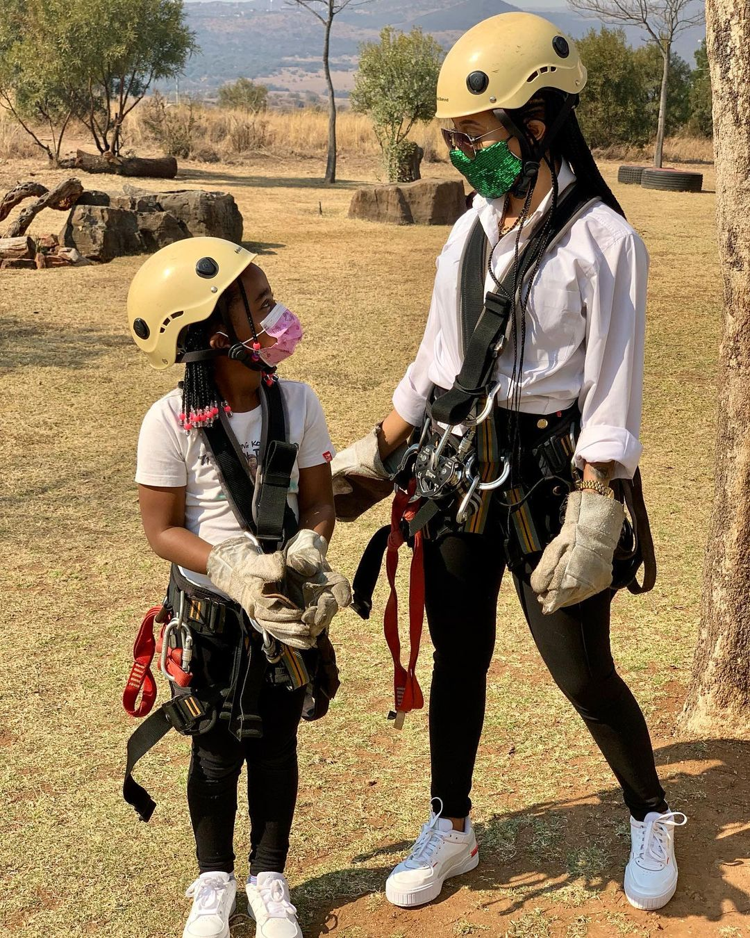 Photos: Inside Kelly Khumalo and family's weekend getaway